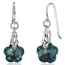 <strong>Oravo</strong> Florentine Cut 10.00 carats Alexandrite Fishhook Earrings Sterling Silver