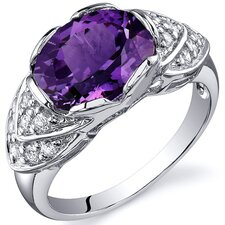 Classy Brilliance 3.50 Carats Cocktail Ring in Sterling Silver