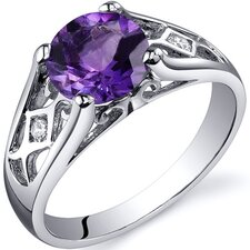 Cathedral Design 1.75 Carats Solitaire Ring in Sterling Silver