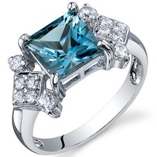 Princess Cut 2.25 Carats Cubic Zirconia Ring in Sterling Silver