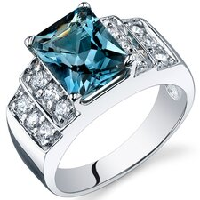 Radiant Cut 2.00 Carats Cubic Zirconia Ring in Sterling Silver