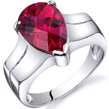Brilliant 3.75 carats Solitaire Ring in Sterling Silver