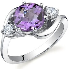 3 Stone Design 1.75 Carats Ring in Sterling Silver
