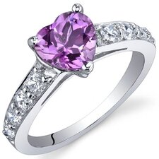 Dazzling Love 1.00 Carats Ring in Sterling Silver