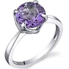 Sublime Solitaire 1.75 Carats Ring in Sterling Silver