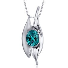 Oval Cut Gemstone Abstract Pendant