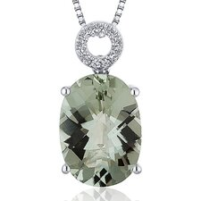 Oval Cut Gemstone Opulent Pendant