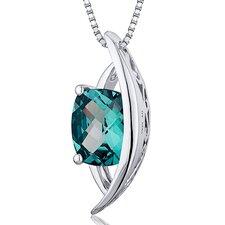Radiant Cut Gemstone Intricate Pendant