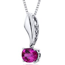 Oval Cut Gemstone Sleek Glamour Pendant