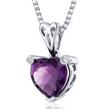 Heart Cut  Gemstone Splendid Love Pendant