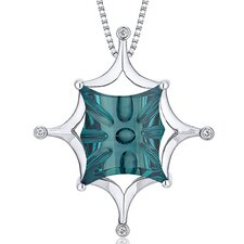 Butterfly Cut Gemstone Buff Top Large Pendant