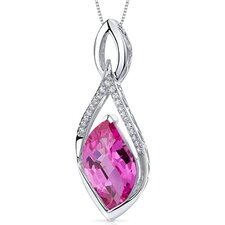 Leaf Cut  Gemstone Luminous Pendant