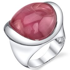 <strong>Oravo</strong> Cat's Eye Sterling Silver Bold and Beautiful Ring