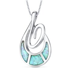 Opal Open Spiral Pendant