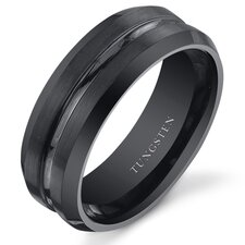 <strong>Oravo</strong> Men's Tungsten Center Groove Wedding Band