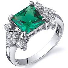 1.50 Carats Princess Cut Emerald Ring