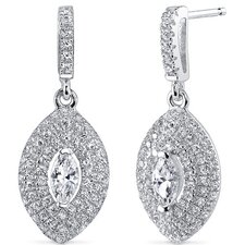 Marquise Cut Cubic Zirconia Drop Earrings