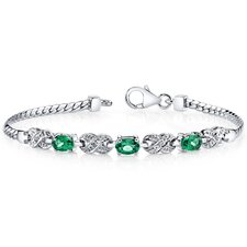 Oval Cut Emerald Link Bracelet