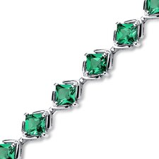 Princess Cut Emerald Link Bracelet