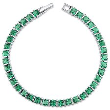 Princess Cut Emerald Tennis Bracelet