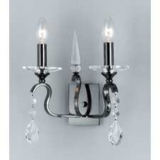Rhinestone and Strass 2 Light Candle Light