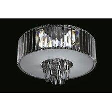 Sigma 4 Light Crystal Flush Mount