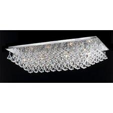 Parma 8 Light Crystal Flush Light