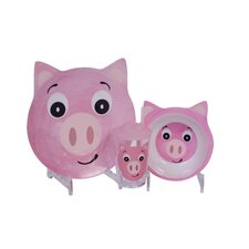 Friendly Faces 3 Piece Children's Pig Dinner Set