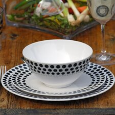 Sorrento 6 Piece Spot Melamine Dinner Set