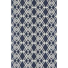 Felix Geometric Navy/Ivory Rug