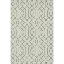 Felix Geometric Ivory/Emerald Rug