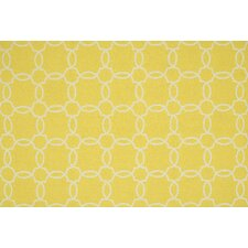 Ventura Yellow/Ivory Geometric Indoor/Outdoor Area Rug