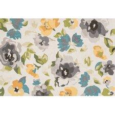 Francesca Grey/Yellow Floral Rug