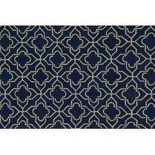 Francesca Navy Geometric Area Rug