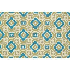 Francesca Lime/Blue Geometric Rug