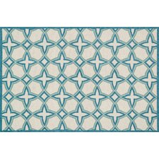 Francesca Ivory/Sea Geometric Floral Area Rug