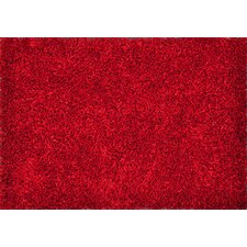 Carrera Shag Red Area Rug