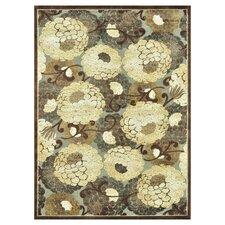 Halton Grey/Beige Floral Area Rug