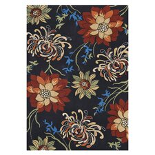 Sunshine Black Indoor/Outdoor Rug