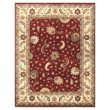 Majestic Red/Ivory Area Rug
