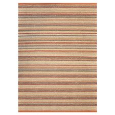 Green Valley Terracotta Striped Rug