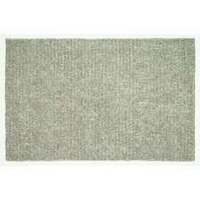 Happy Shag Light Grey Solid Area Rug