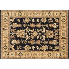 Morrow Black/Light Gold Rug