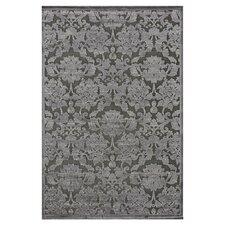 Halton Too Black/Grey Floral Area Rug
