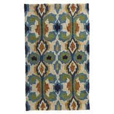 Enzo Ivory & Blue Indoor / Outdoor Rug
