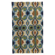 Enzo Ivory / Blue Indoor Indoor/Outdoor Rug