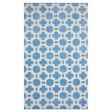 Piper Blue/White Checkers Area Rug