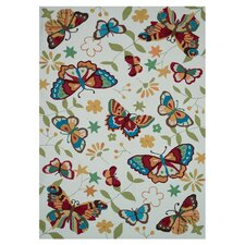 Juliana Butterfly Ivory Area Rug