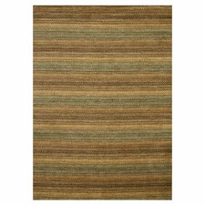 Frazier Desert Gold Strip Area Rug