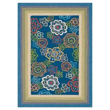 Zamora Blue Outdoor Area Rug